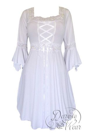 f00cbb13af3 Dare To Wear Victorian Gothic Women s Plus Size Renaissance Corset Dress  Icing