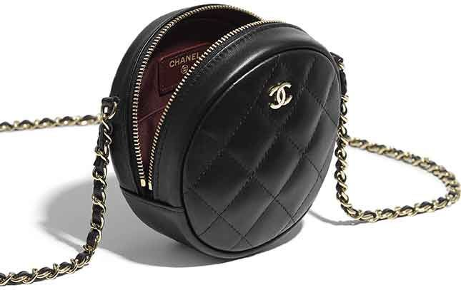 903f2b63608 Chanel Round Classic Chain Clutch