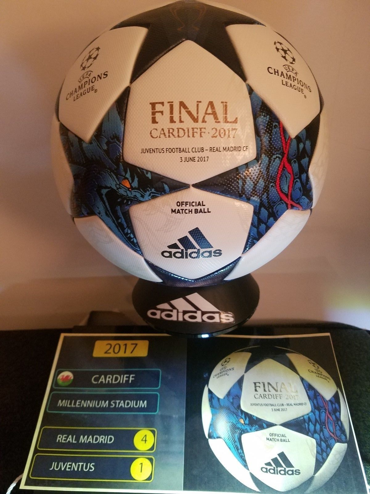 ebaf0d249b1 Balls 20863  Adidas Uefa-Champions League Finale Cardiff - Official Soccer  Match Ball - 2017 -  BUY IT NOW ONLY   650 on  eBay  balls  adidas  league  ...