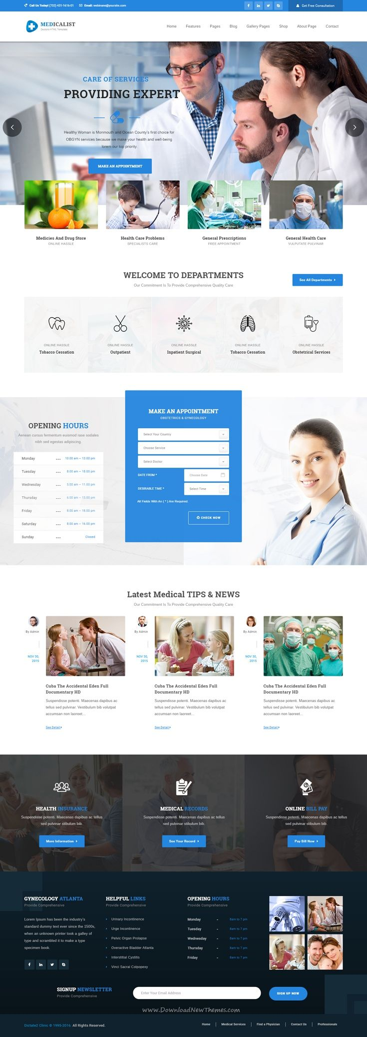 Medicalist - A Responsive HTML #Bootstrap Template for #Medical, Doctors, Dentists, Clinics and Hospitals #Website.