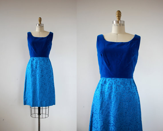 64e3e73df6b vintage 1960s dress   60s party dress   60s royal blue velvet dress   60s  sleeveless dress   60s coc