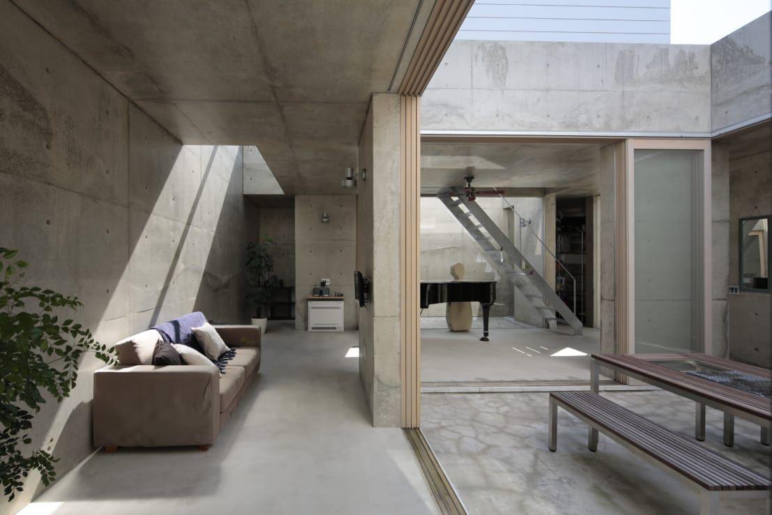 コンクリートがお洒落な家5選 無機質かつモダンな空間 コンクリート インテリア ハウスデザイン 家