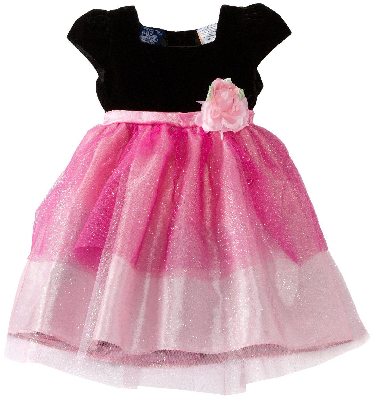 So La Vita Baby Girls Infant Sparkle Layered Tulle Dress $18