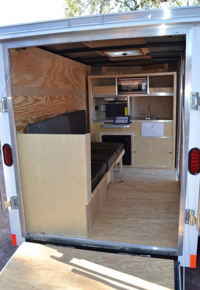 Cargo Trailer Conversion Travel Trailers Pinterest