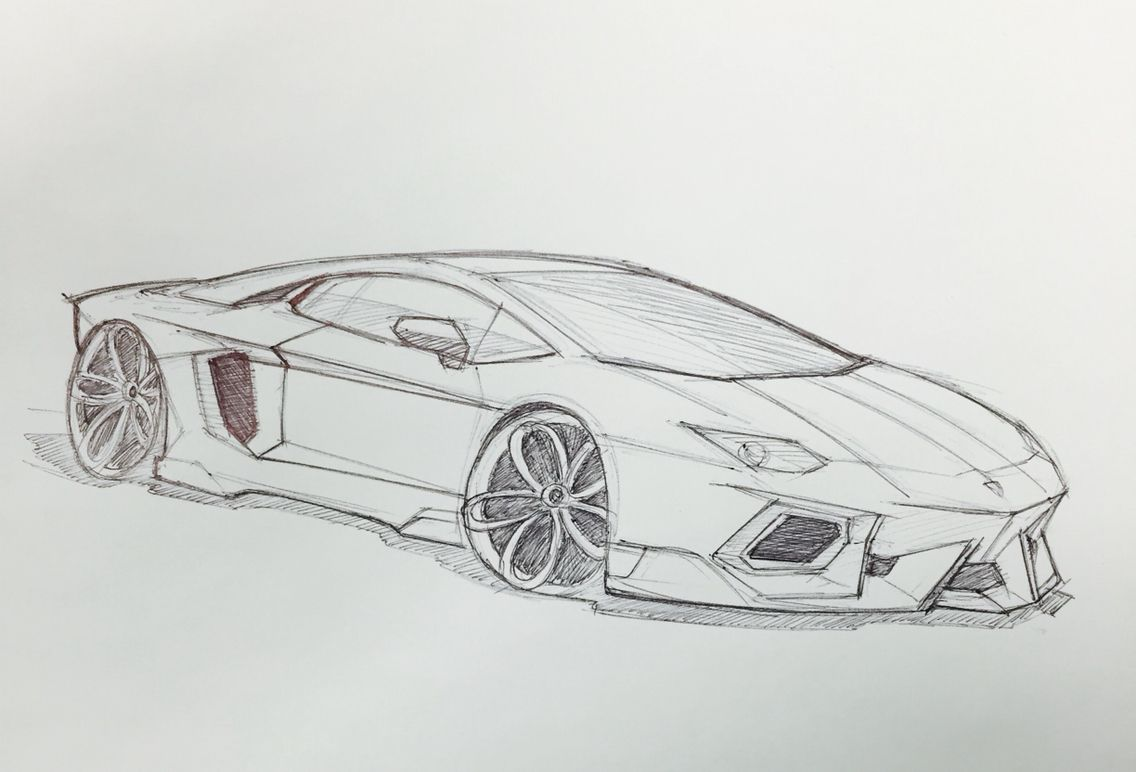Lamborghini Aventador Sketch Drawings In 2019 Car Drawings