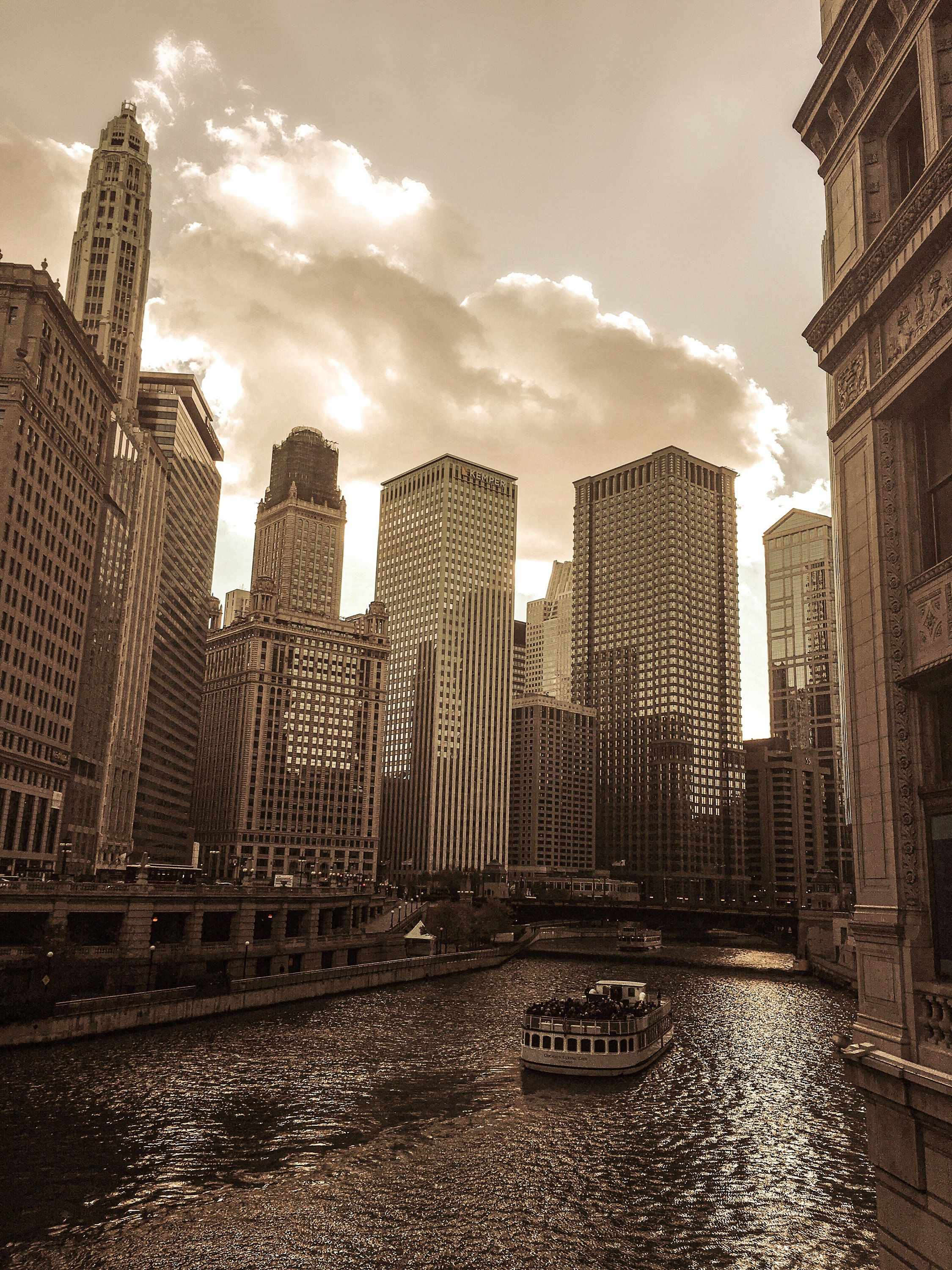 Chicago River, Chicago Riverwalk, Chicago Sunset, Chicago