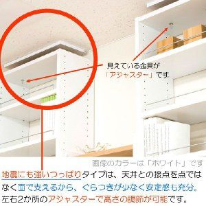 天井つっぱり本棚 プローバ2 幅45 天井 つっぱり 突っ張り 天井突っ張り 本棚 棚 つっぱり 耐震 地震対策 シェルフ 転倒防止