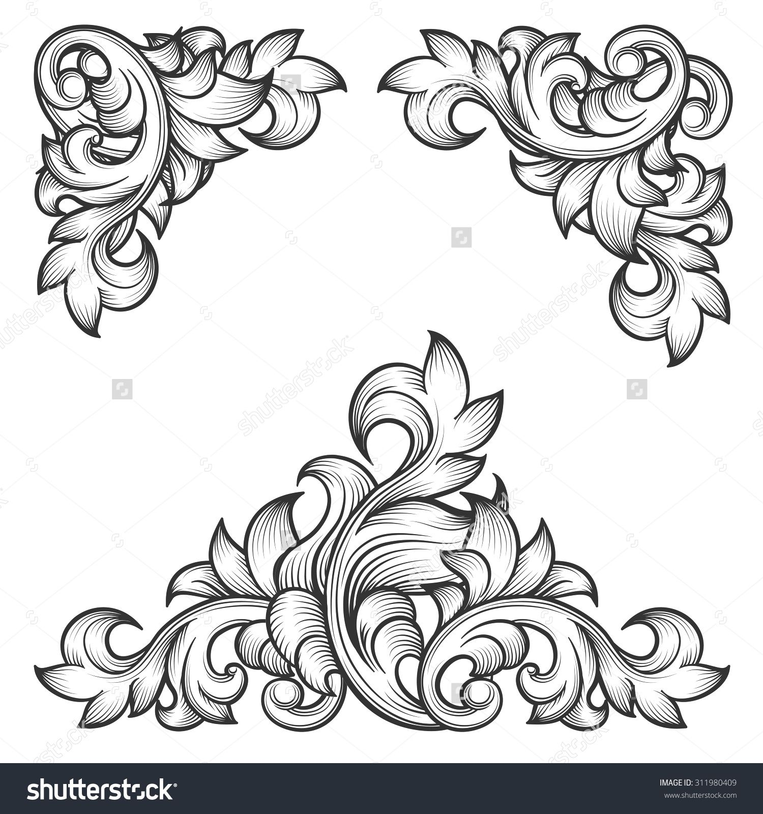 Stock vector baroque leaf frame swirl decorative design element buy baroque leaf frame swirl decorative design element by on graphicriver dailygadgetfo Gallery