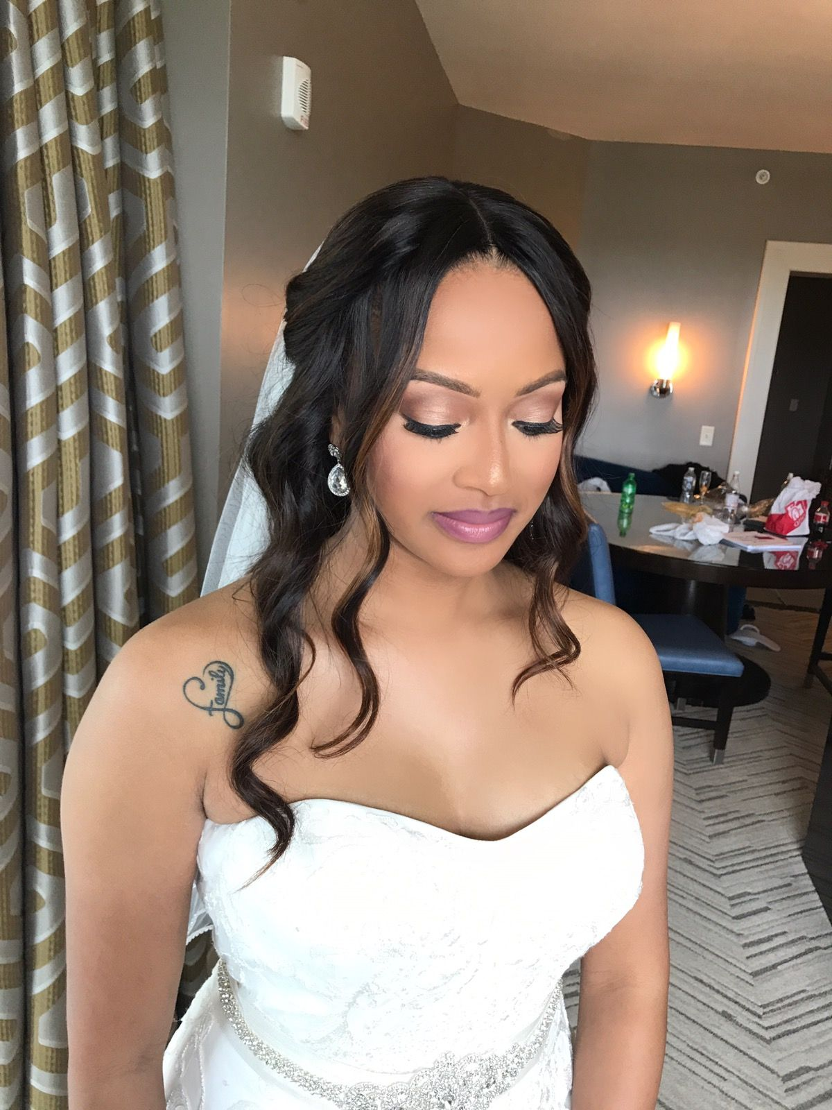 Bridal makeup. Melanin makeup. Black brides. Wedding