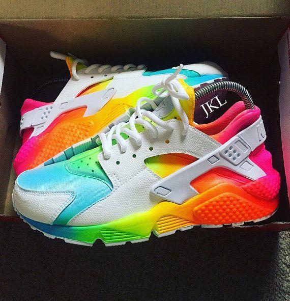 7b1d929c022 ... Tie dye Neon Summer Nike Air Huarache Unisex Nike by JKLcustoms ...