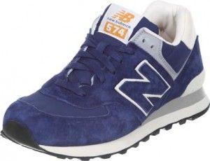 Montpellier pas cher Chaussures de Running New Balance ML574 - Homme - Bleu Militaire / Saphir Sombre / Blanc Ivoire / Gris retours faciles et gratuits
