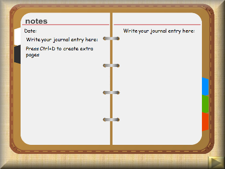writing a diary entry checklist icon