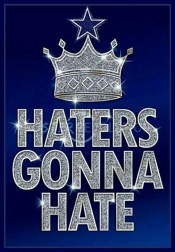 Haters Gonna Hate Blue Bling Poster Dallas Cowboys Dallas