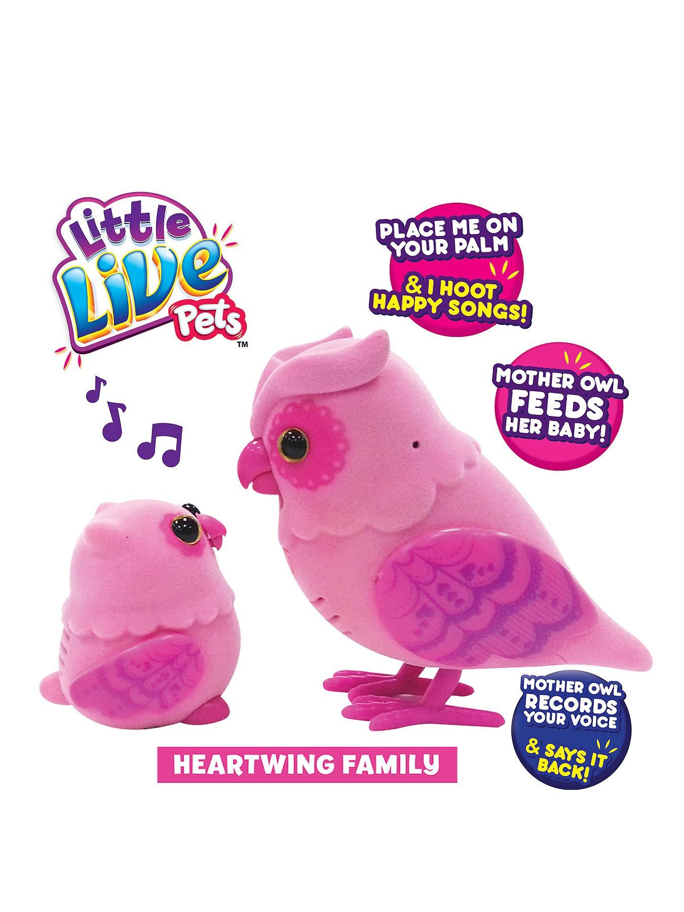 Little Live Pets Tweet Talking Owl and Baby - Heartwing Family  85236e90a6