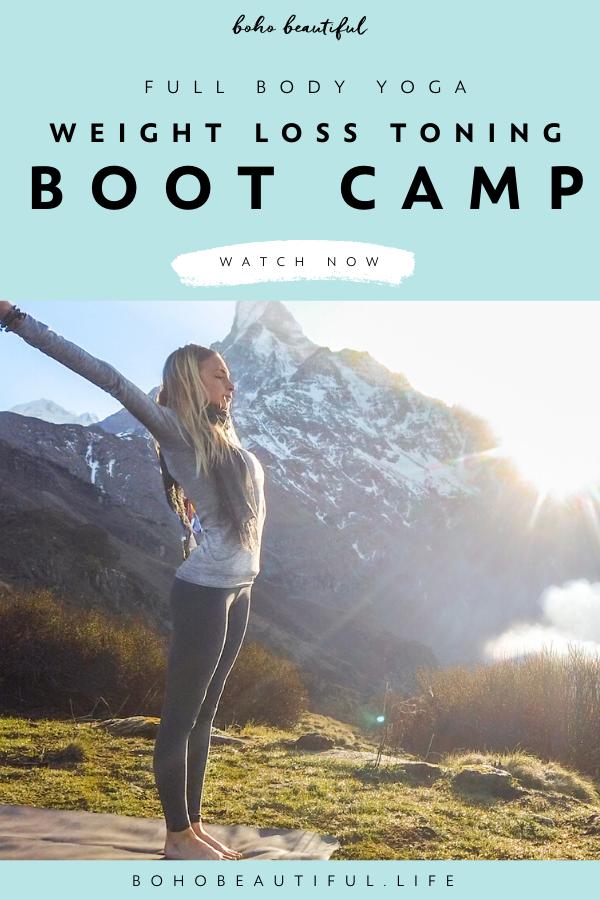 Full Body Yoga Workout For Weight Loss & Toning   Boho Beautiful