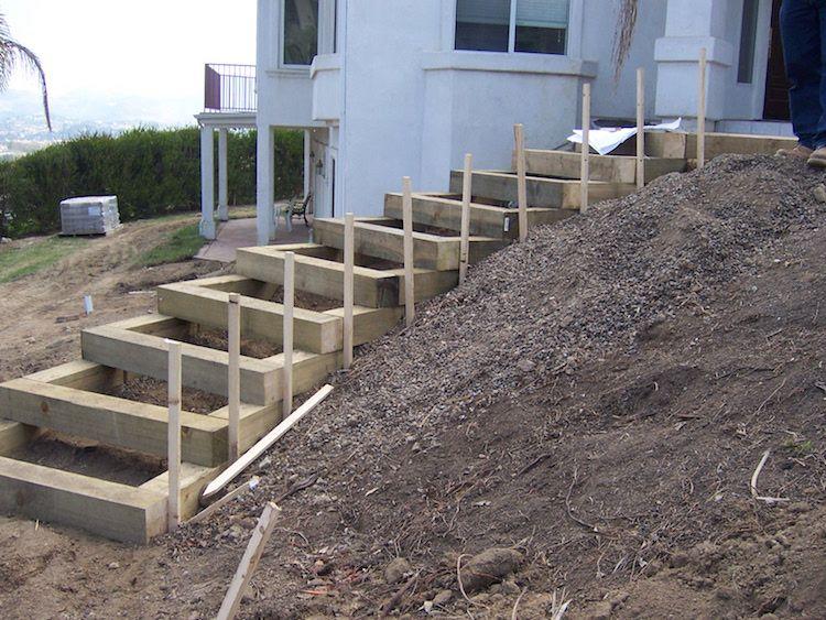 gartentreppe-selber-bauen-holz-hang-haus-steil   Garten   Pinterest