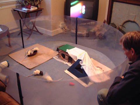 Pet Rat Playpen Made From Rolls Of Semi Rigid Pvc Held