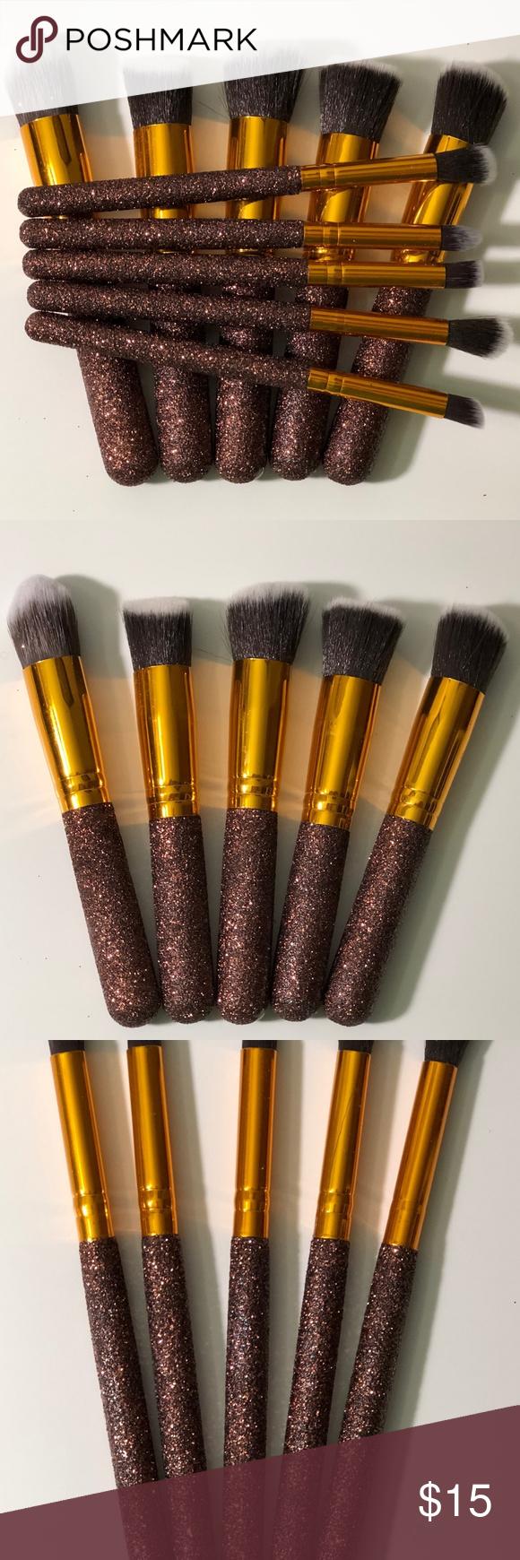Photo of 10-teiliges, individuelles Glitzer-Make-up-Pinsel-Set