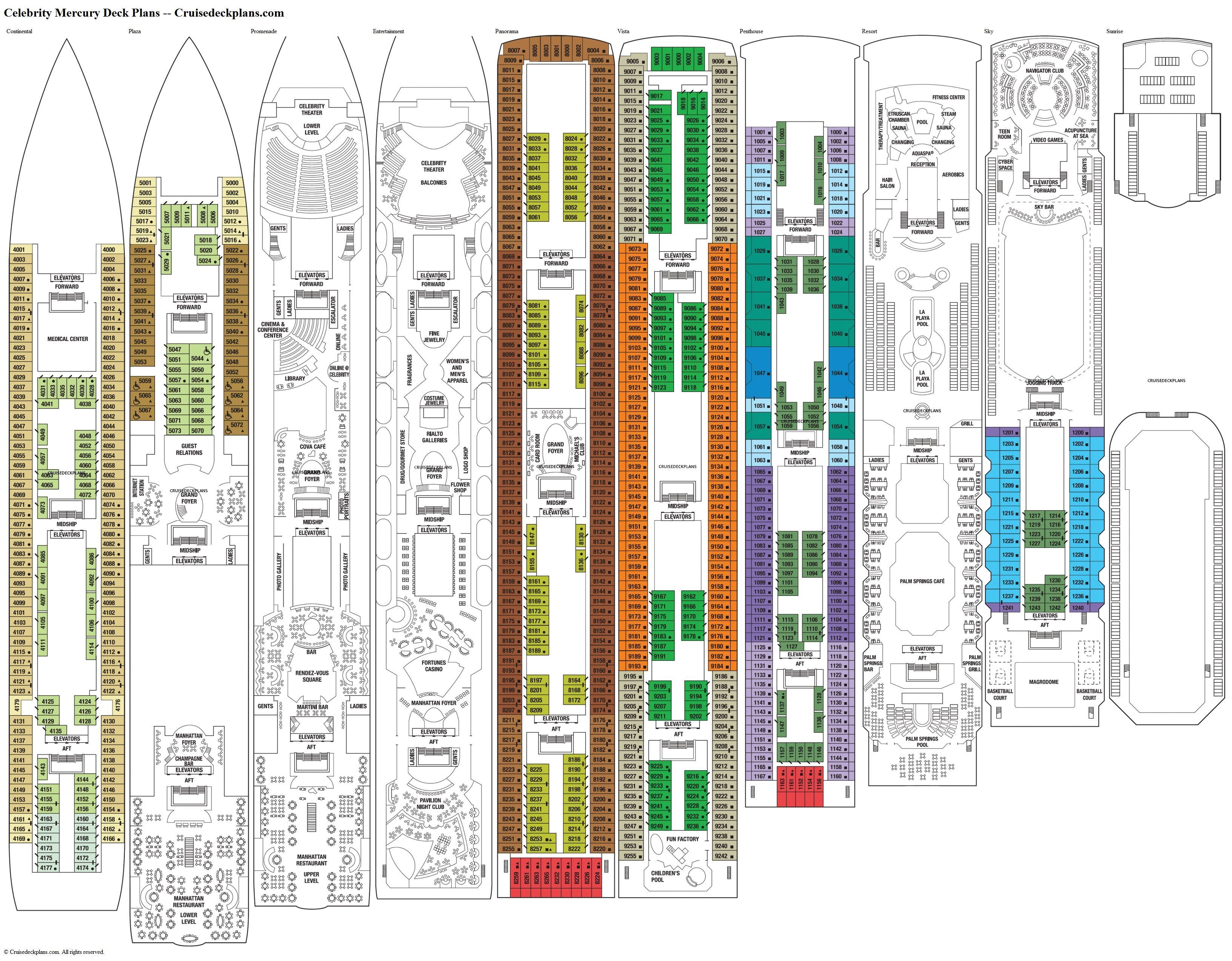 Celebrity Constellation Deck Plans, Ship Layout ...