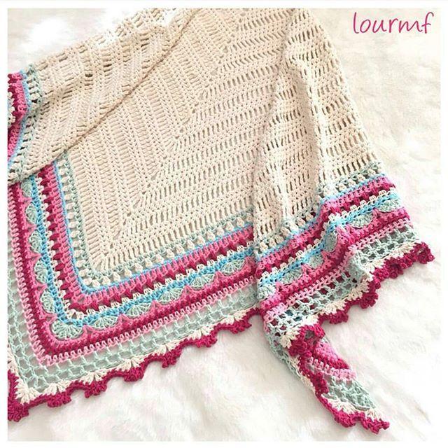 Crochet Shawl Pattern ~ Instant Download ~ Sunday Shawl | Crochet 2 ...