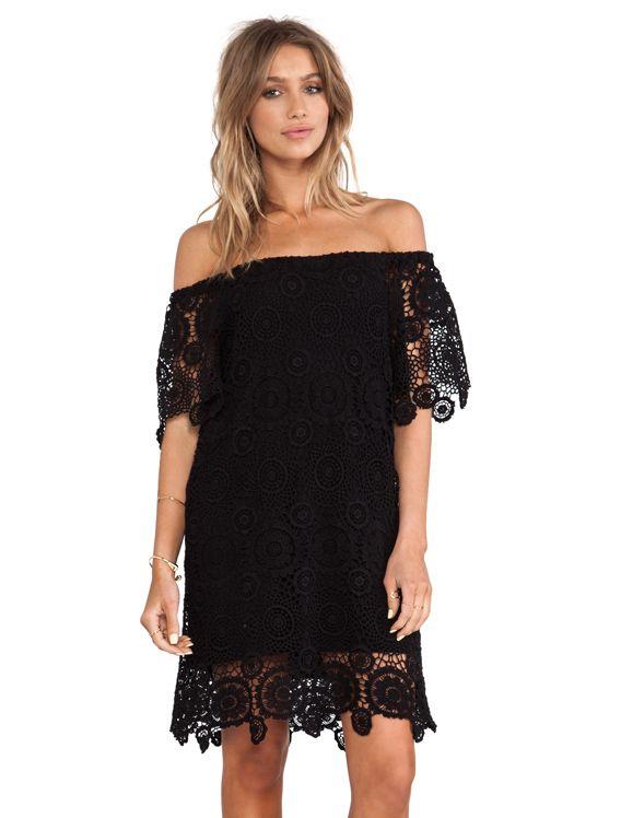Nightcap Carmen Crochet Dress