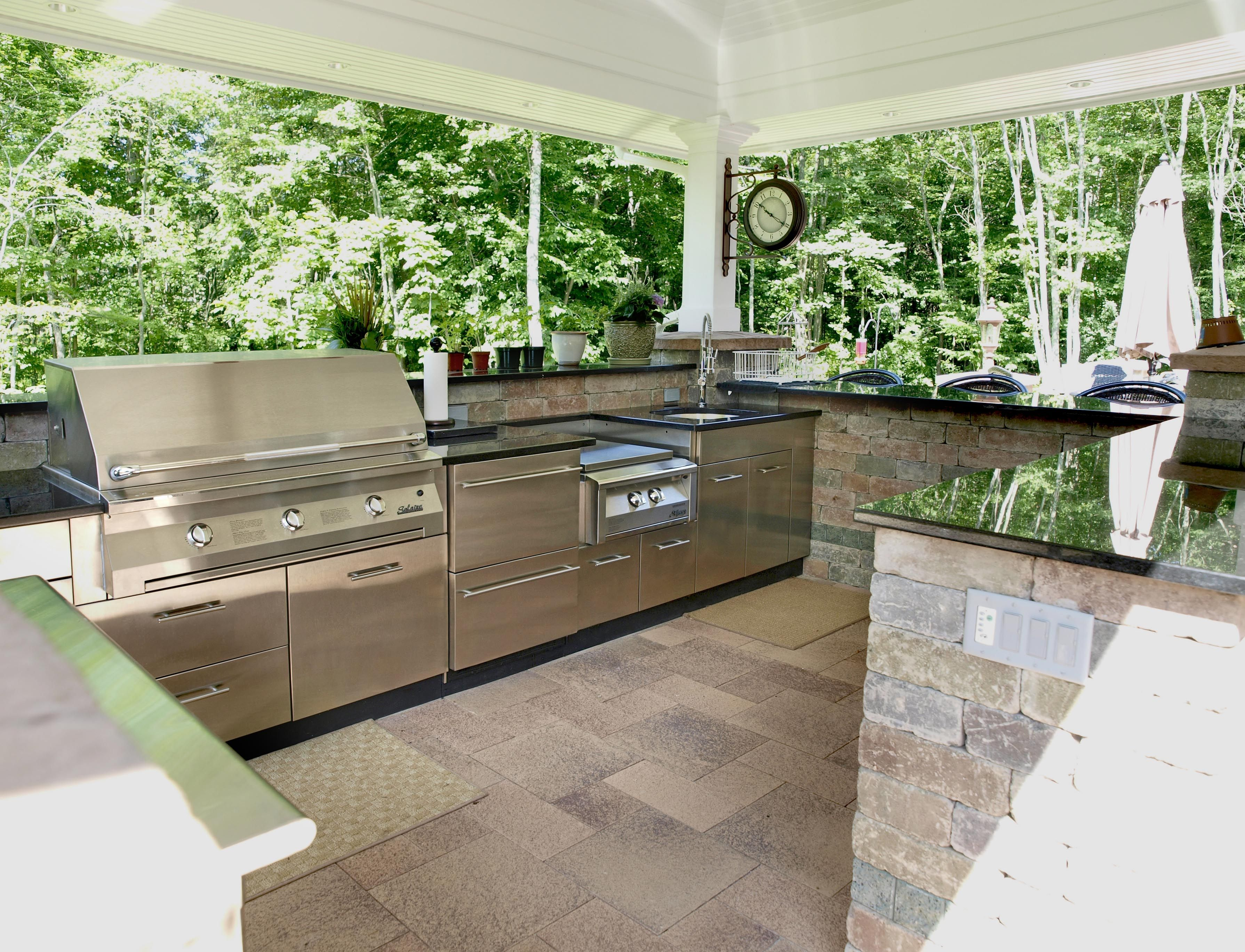 Outdoor Kitchens  The Ultimate Garden Party  Kitchens Outdoor Awesome Outside Kitchens Designs 2018