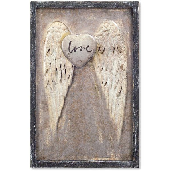 Superbe Melrose Angel Wings Plaque ($55) ❤ Liked On Polyvore Featuring Home, Home  Decor