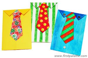 Necktie Greeting Card Craft Perfect For Father S Day Crafts With