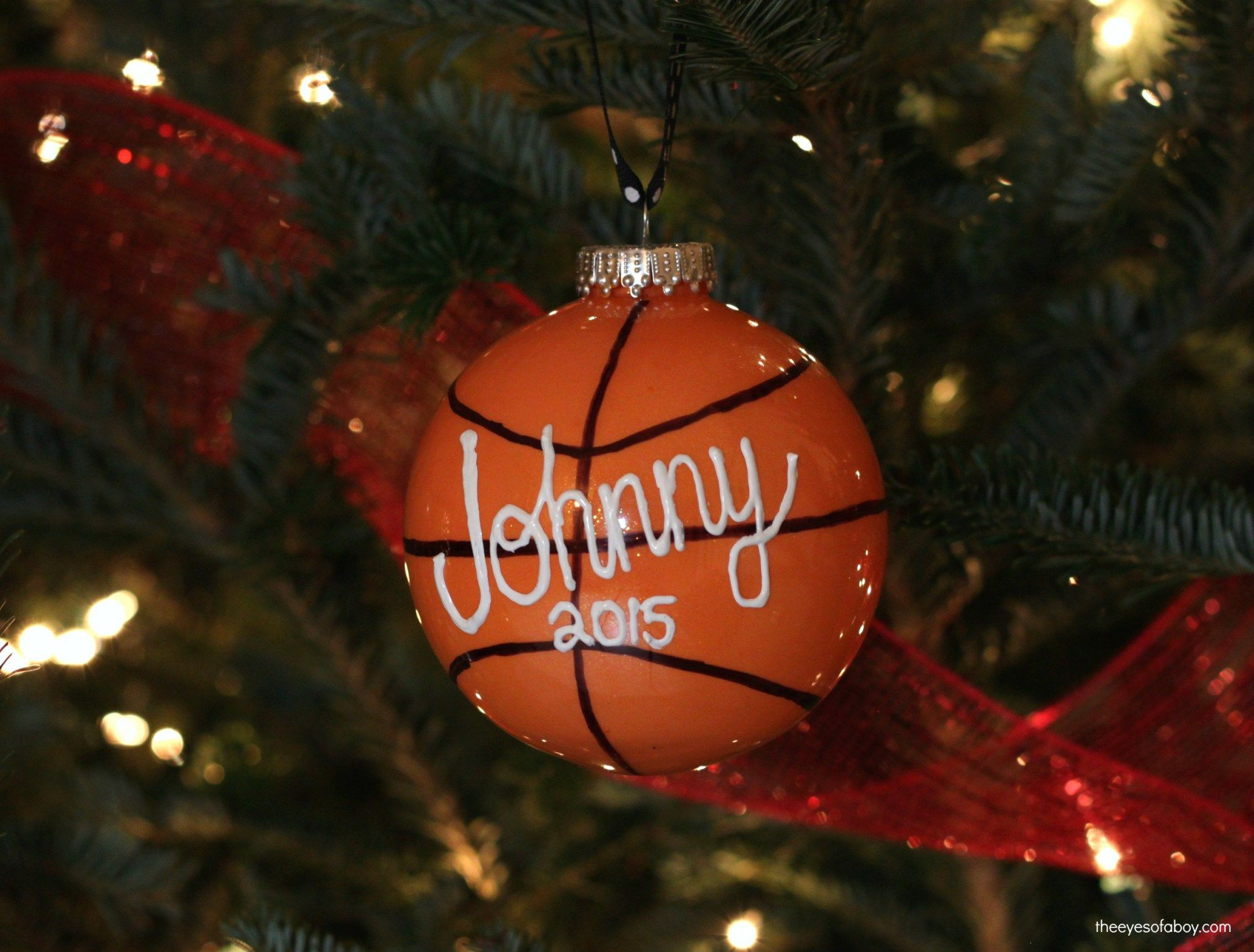 diy basketball christmas ornament for kids