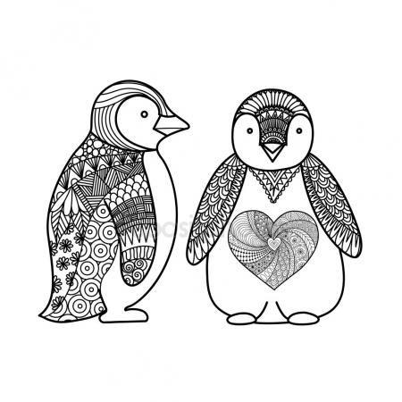 Descargar vectores de stock de Pingüinos mandala en la mejor agencia ...