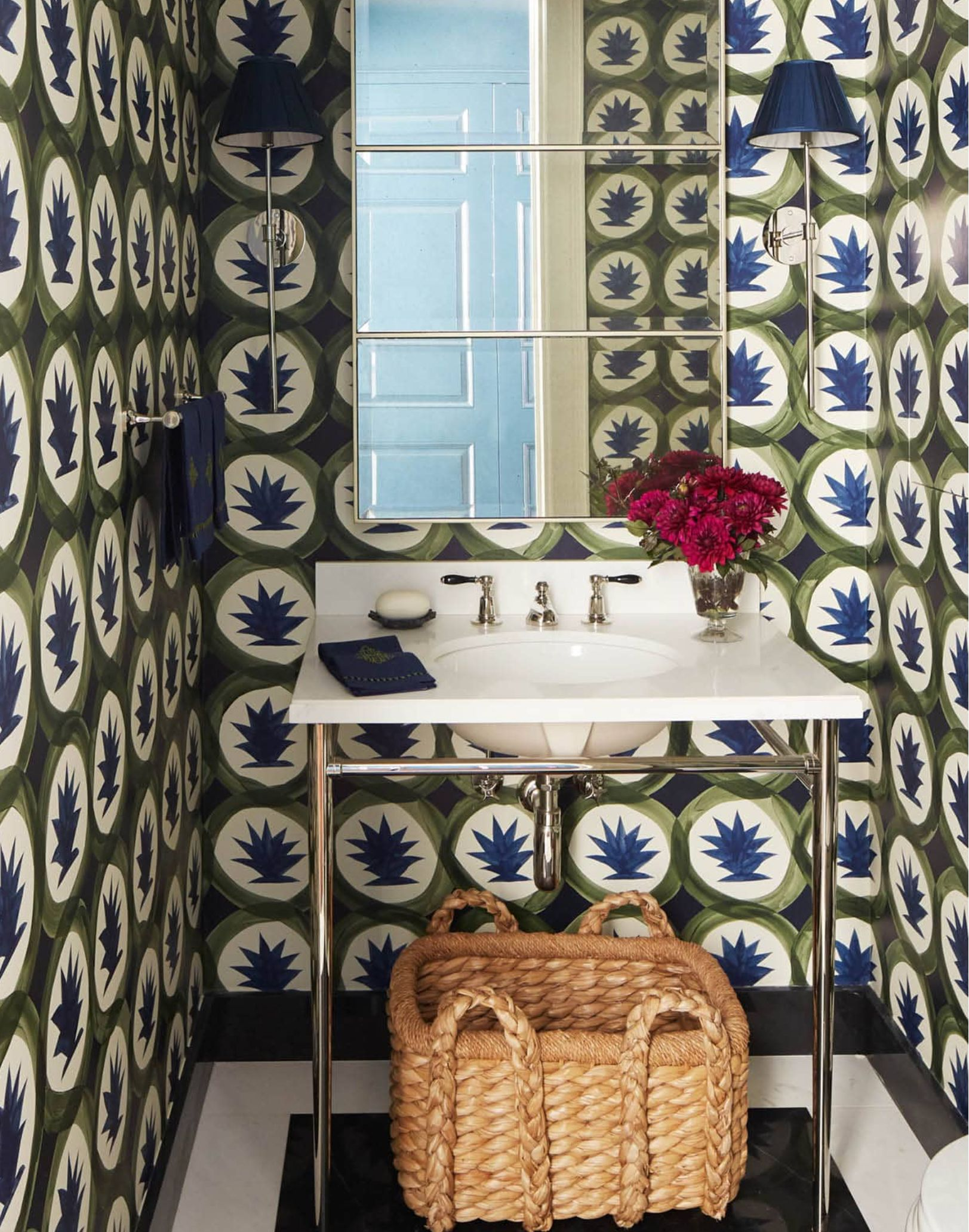 The Little Powder Room That Could Housewhole Wallpaper