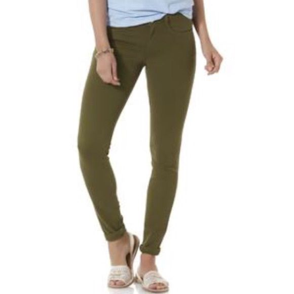 Olive jeggings Olive Jeggings. Size 4 but they fit like a juniors 1. Never worn. Simply Styled  Pants Skinny