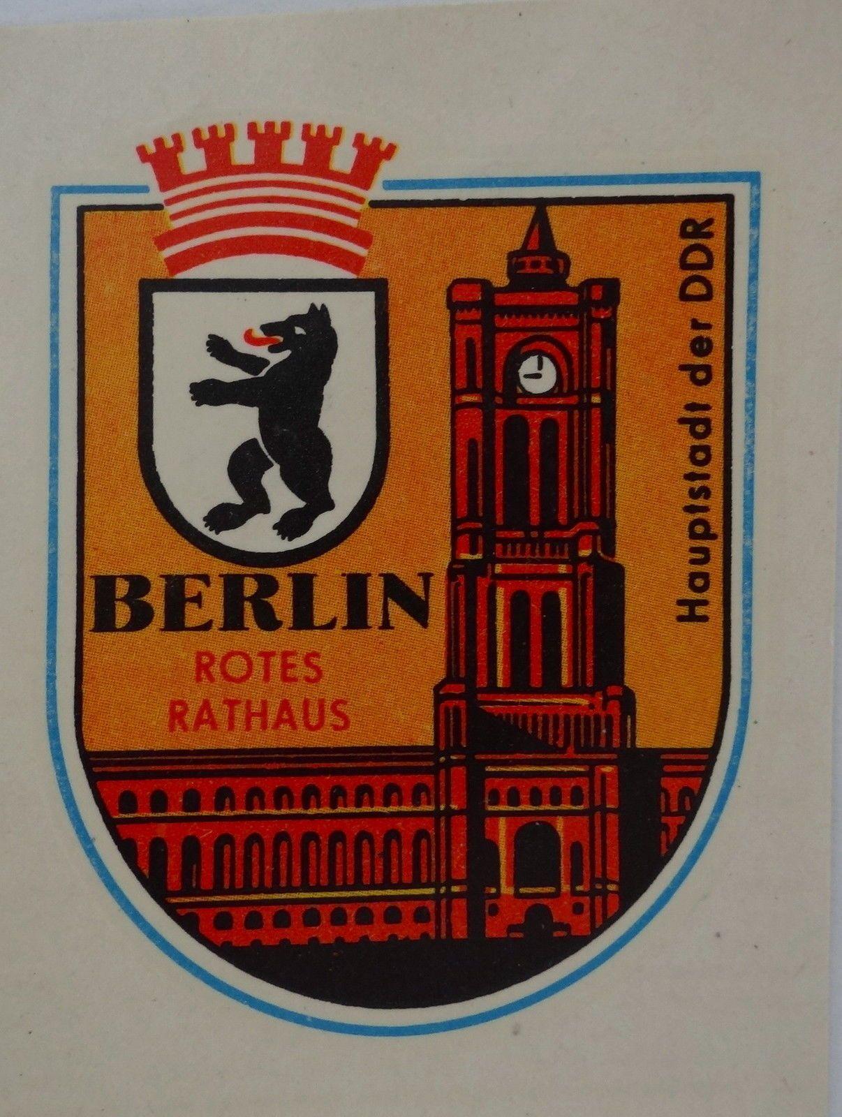 Aufkleber OST-BERLIN DDR Rotes Rathaus Nass-Schiebebild 1978 Oldtimer   eBay