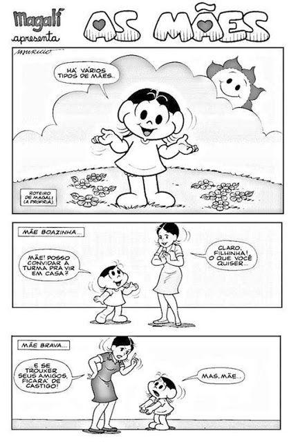 Tipos De Maes Tirinha Turma Da Monica Com Imagens Tipos De