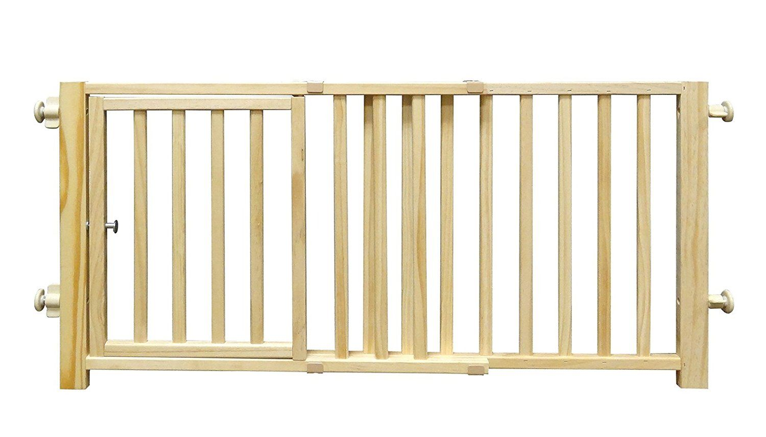 Four Paws Walkover Wood Pet Gate with Door * Read more at