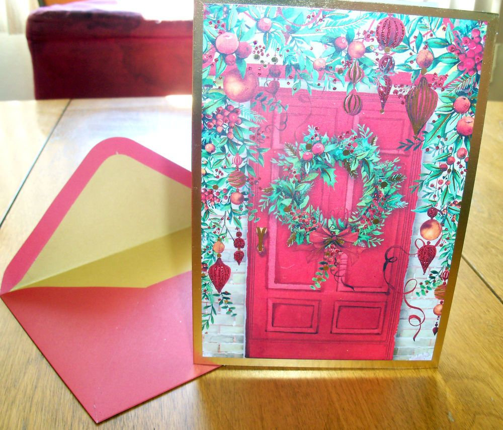 papyrus holiday doorway boxed christmas cards set of 14 retail 1895 papyrus