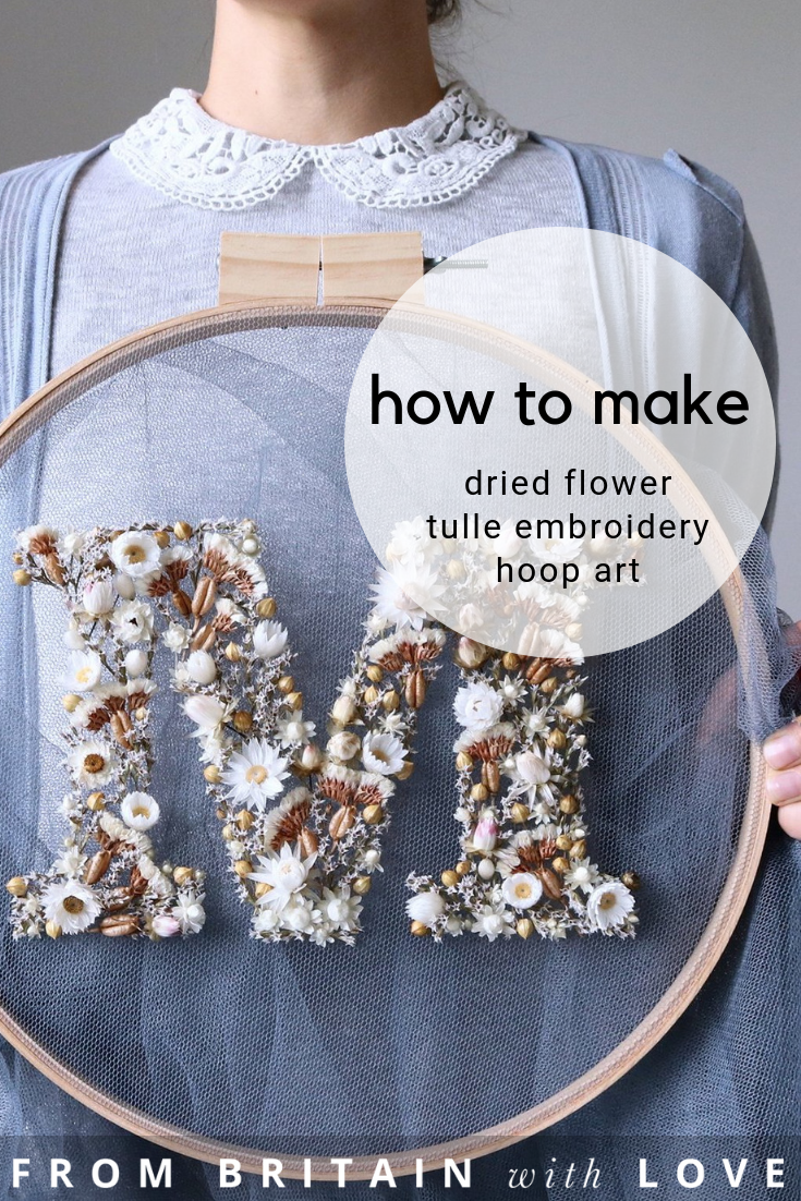 Photo of How to make embroidery hoop art with dried flowers – From Britain with Love