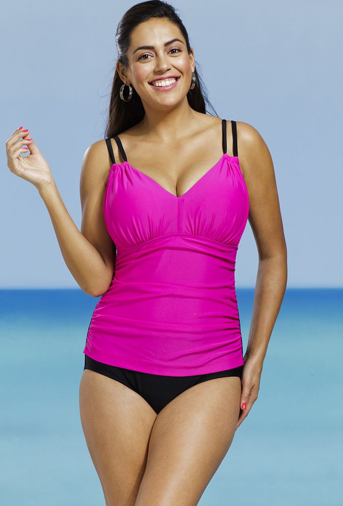 Delta Burke Pink Shirred Swimsuit | On the Pontoon | Pinterest ...