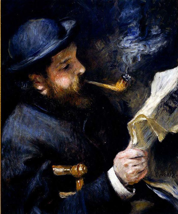 Pierre-Auguste Renoir, Claude Monet Reading A Newspaper