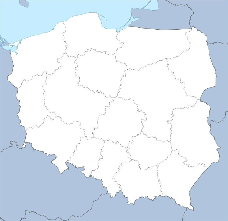 Znalezione Obrazy Dla Zapytania Polska Z Podzialem Na Wojewodztwa