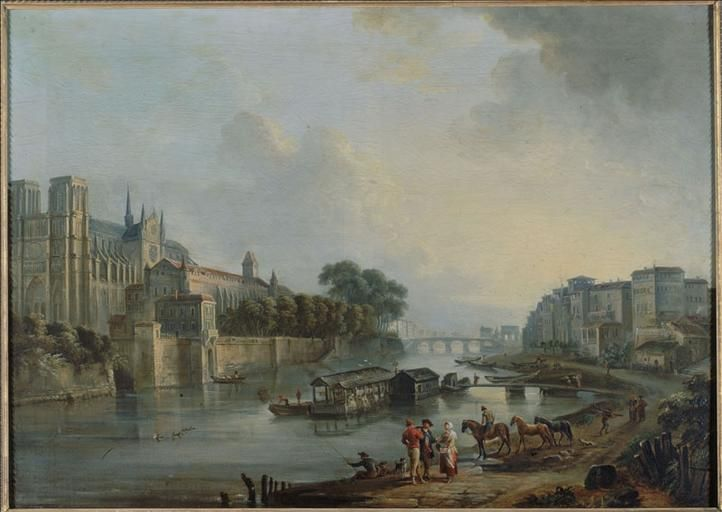 Notre-Dame, Paris in 1775. Painted by Jean Baptiste Lallemand