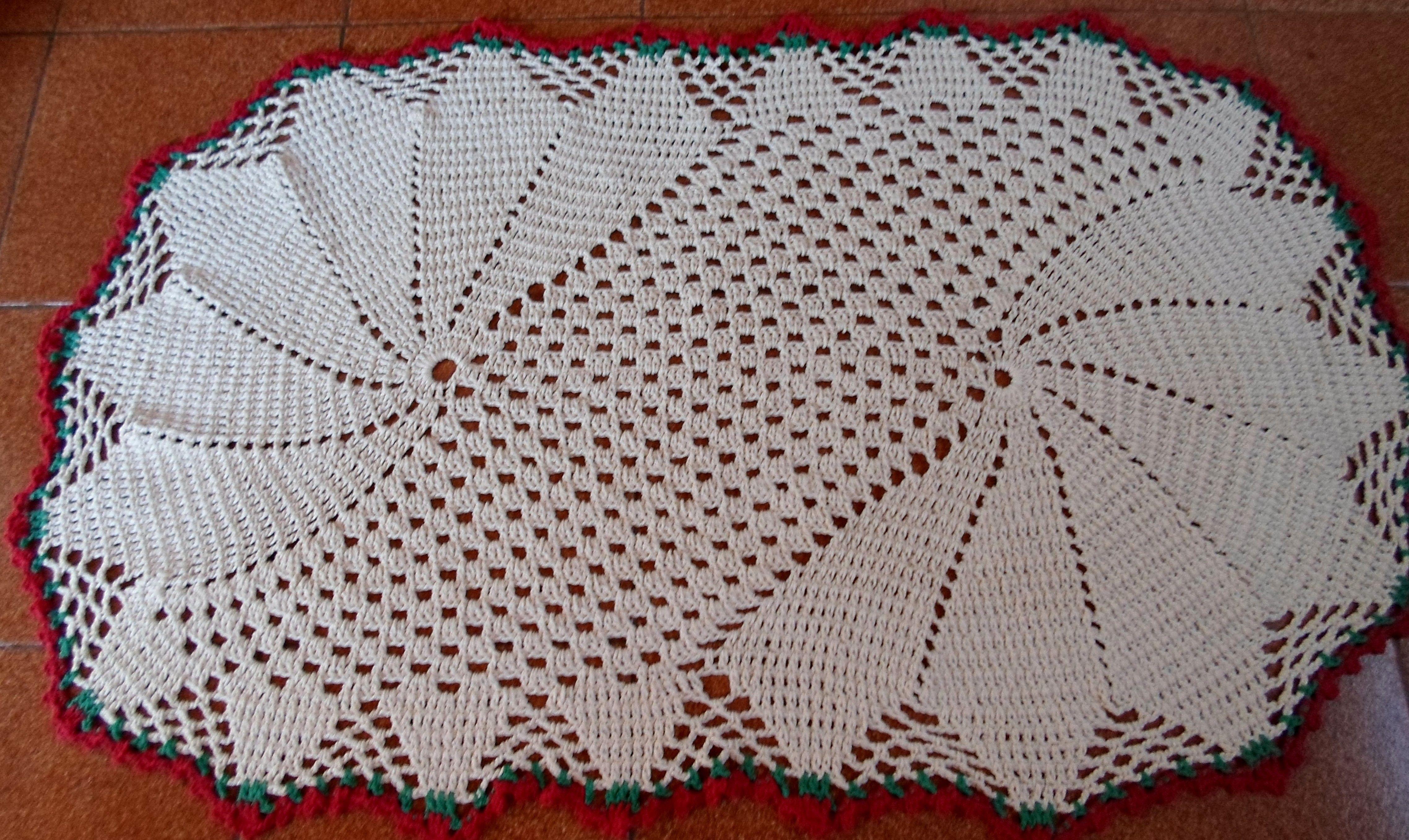Tapete de croche oval 4551 2715 tejidos for Tapetes de ganchillo