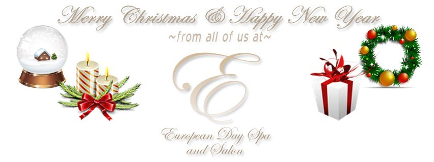 ~Merry Christmas & A Very Happy New Year from all of us at The European Day Spa & Salon!~