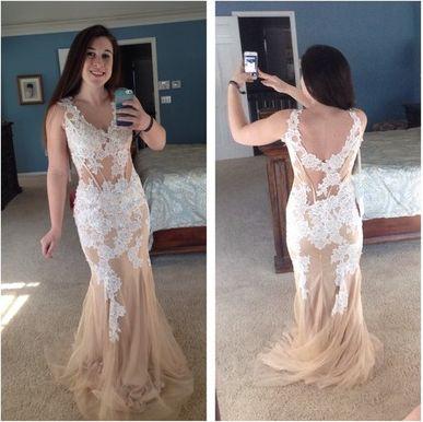 Mermaid Custom Made Charming Prom Dress,Tulle Formal Dresses,Long Evening Dresses On Sale, T59