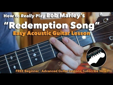 Bob Marley - Redemption Song - Easy Guitar Lesson, Chords and Tabs ...