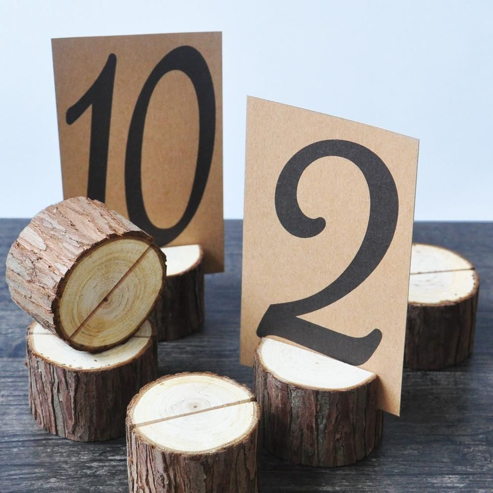 Wood Stump Holders 10 Pieces These Photo And Or Table Number