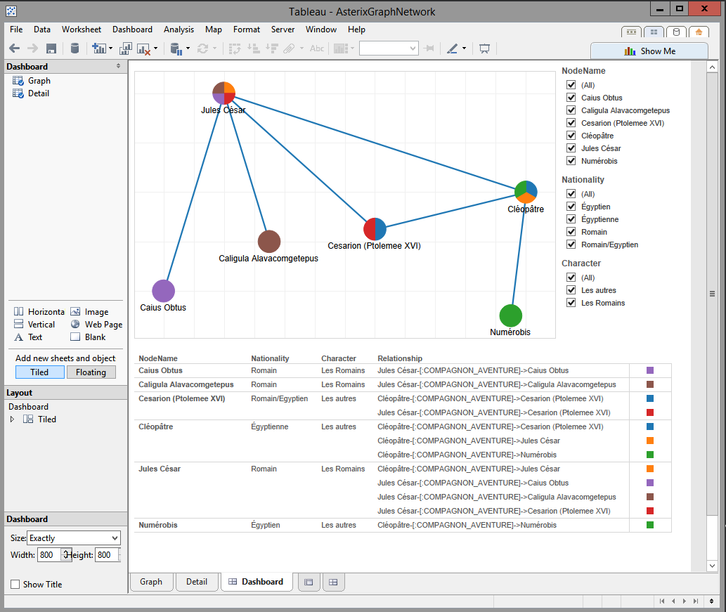 hight resolution of tableau network graph tableau software