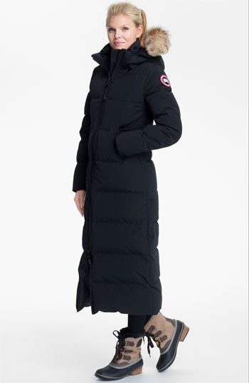canada goose red long jacket