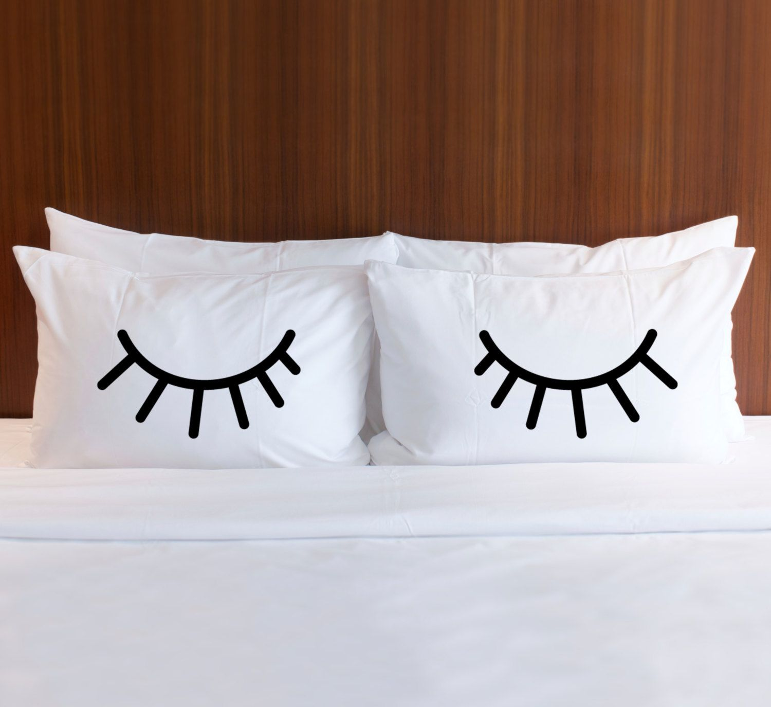 Pillowcases For Bedroom Gift For Bed Pillows Eyelids Shut Etsy Bed Pillows Pillow Case Sets Bedroom Gift