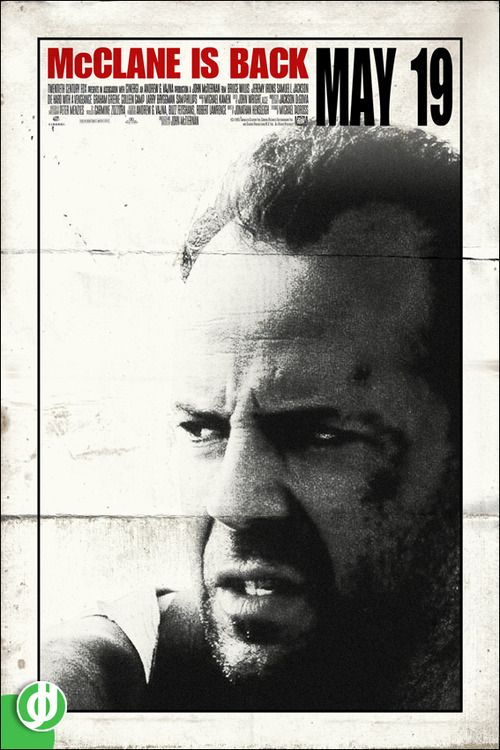 DIE HARD WITH A VENGEANCE. Poster designed by Jidé.